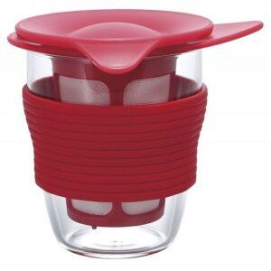 Τσαγιέρα Ποτήρι Hario 200 ml Κόκκινη